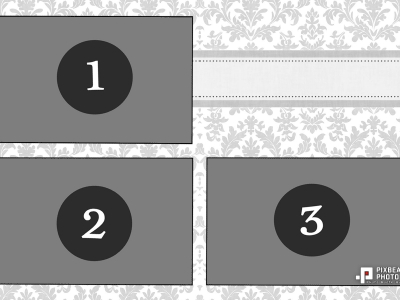 20180601 - Floral Ribbon 3 Images Template
